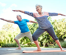 Senior Couple Staying Active