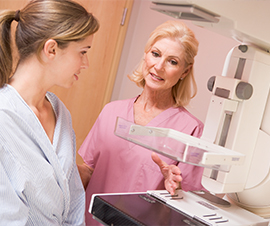 Women Getting a Mammogram