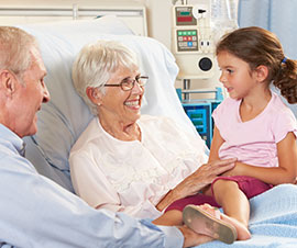 Family Visiting a Patient